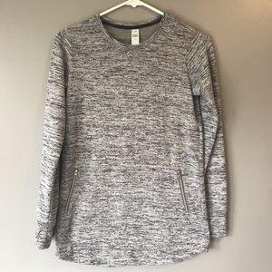 Athleta girls gray sweatshirt size large 12